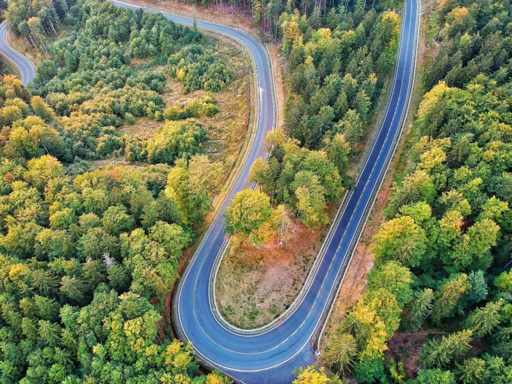 cervenohorske sedlo dron fotka cesta