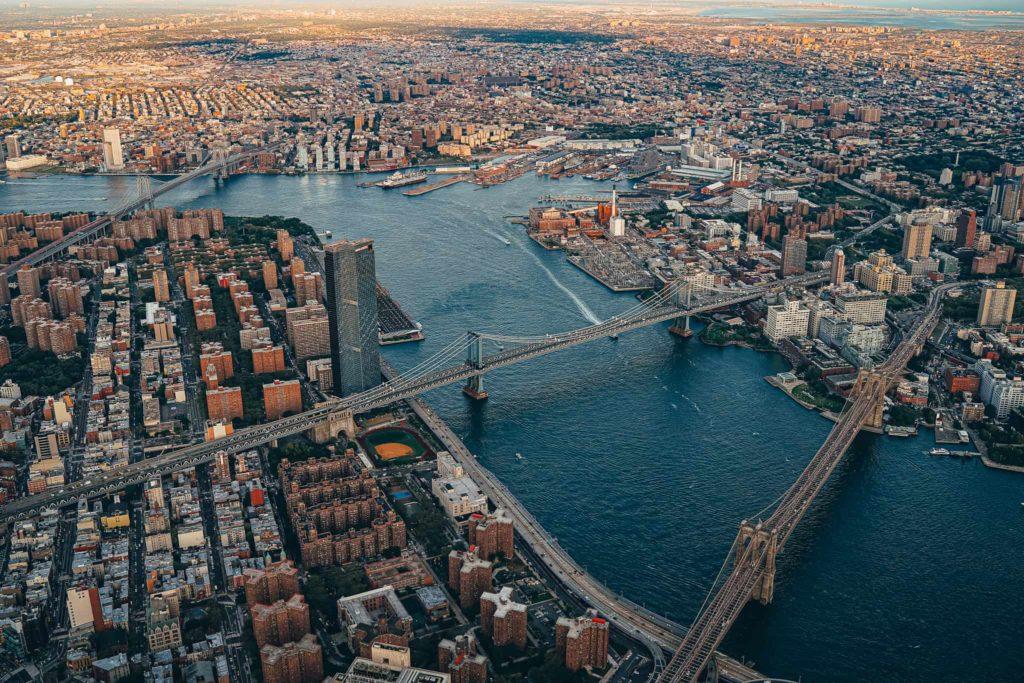 brooklynský most z helikoptéry