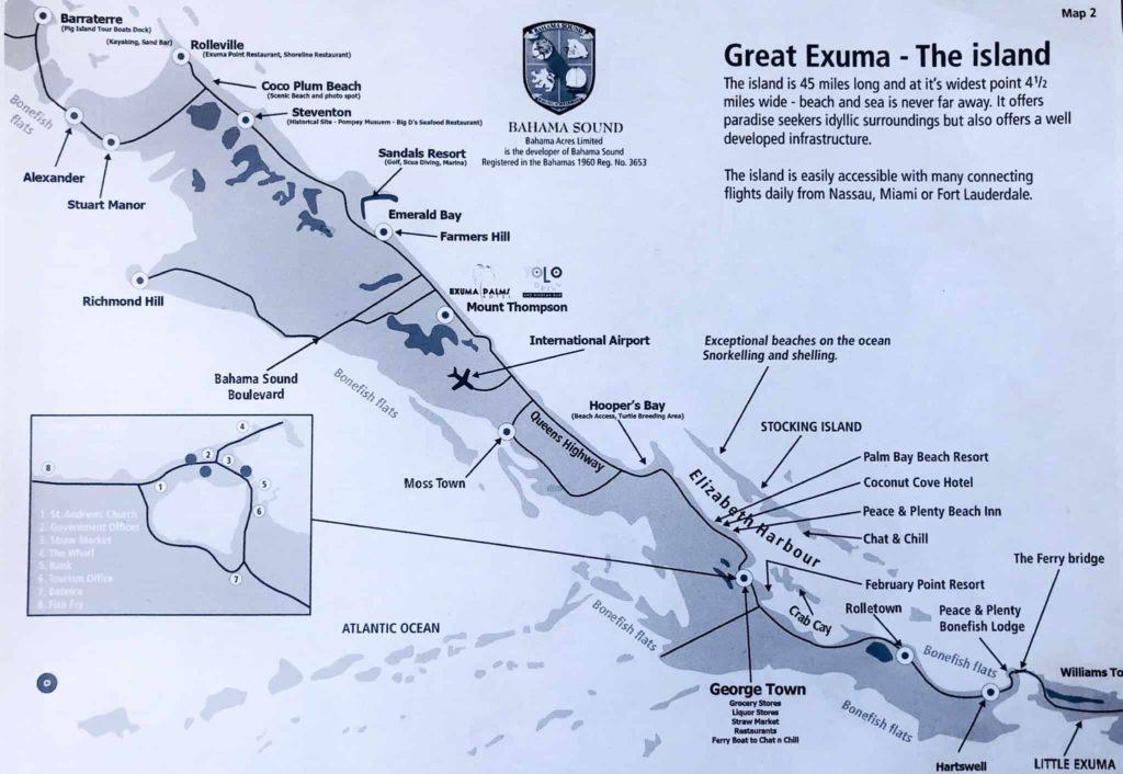 maps of exuma